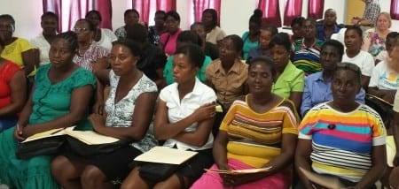 Gender-based Violence training in Haiti