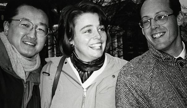 PIH's founders: Jim Yong Kim, Paul Farmer, Ophelia Dahl.