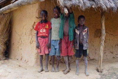 kids in Kaingilira Village