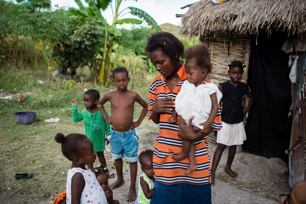 A family in Boucan Carré, Haiti
