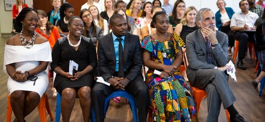 PIH Nightingale Fellows sitting during their graduation ceremony