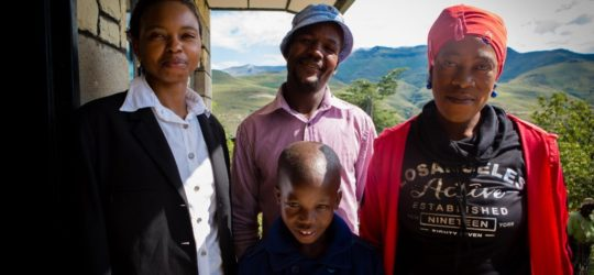 Lehlohonolo Khate with his PIH family