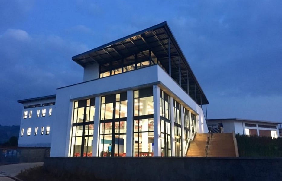 University of Global Health Equity (UGHE) administrative building at dawn