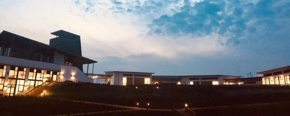 UGHE campus at dawn in January 2019