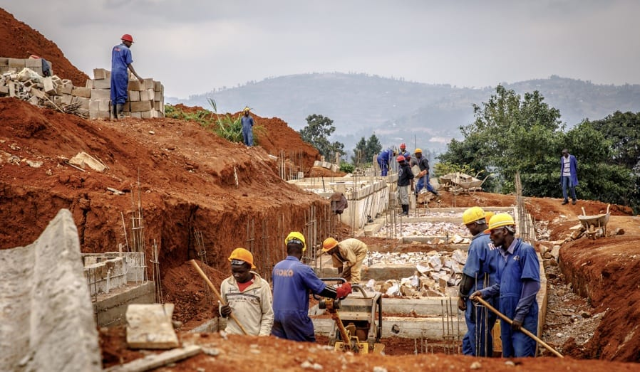 Constructions works lay the foundations for buildings on the UGHE campus
