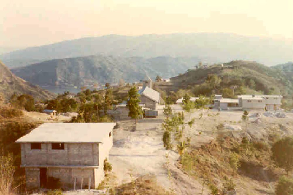 A view of a few of the building in Cange, Haiti in 1983
