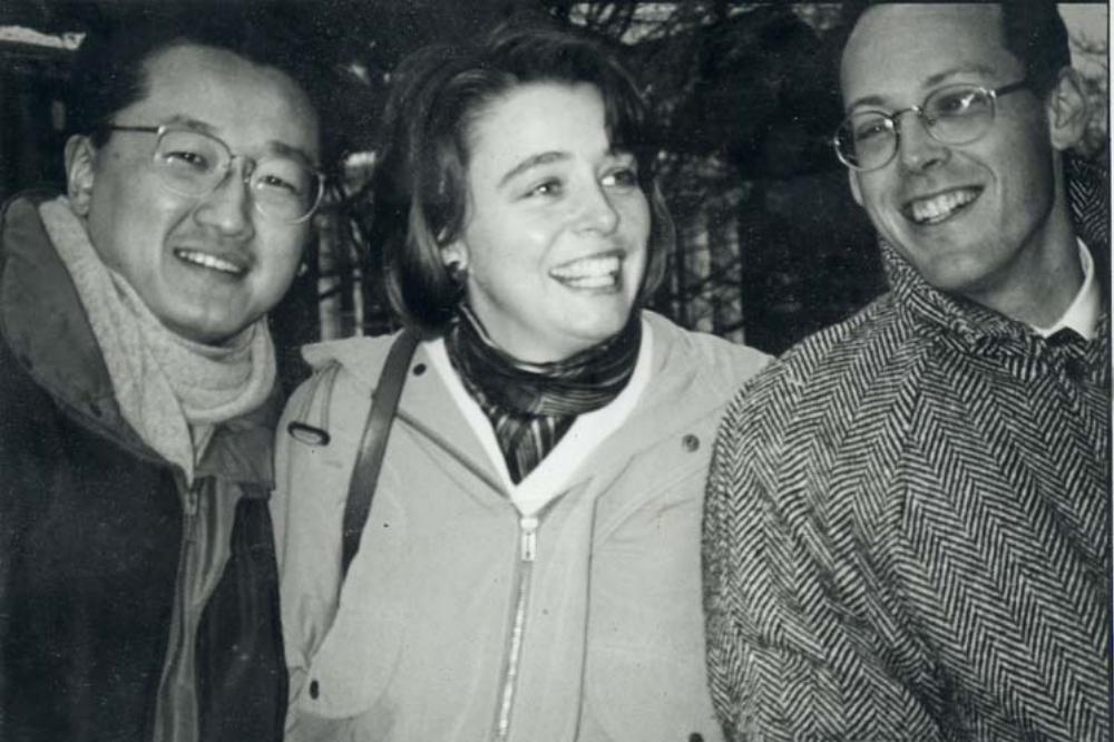 Dr. Paul Farmer, Ophelia Dahl and Dr. Jim Kim together smiling