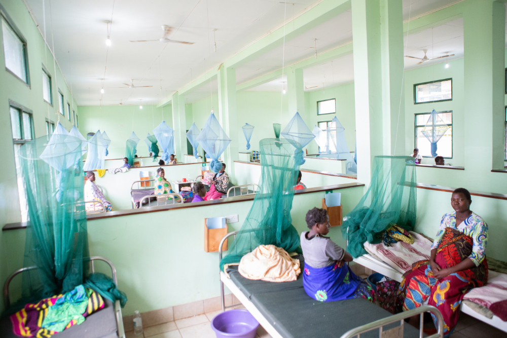 In-patient ward at a PIH clinic in Malawi