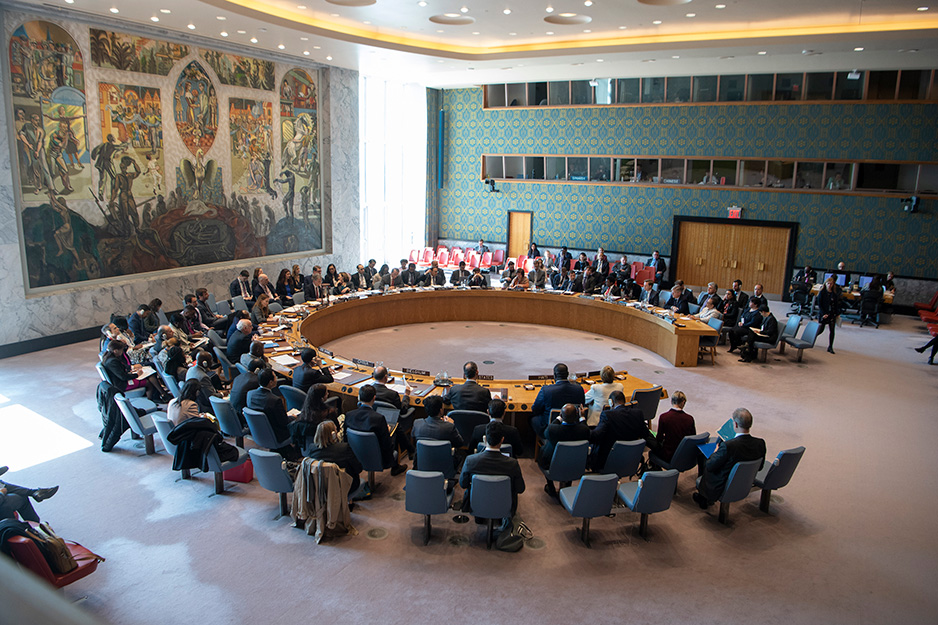 UN Security Council gathered together at the UN in New York.