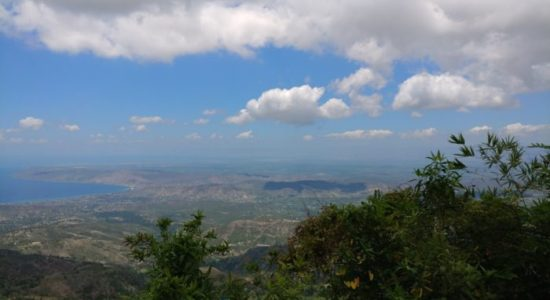 Landscape view of the rolling hill in Haiti