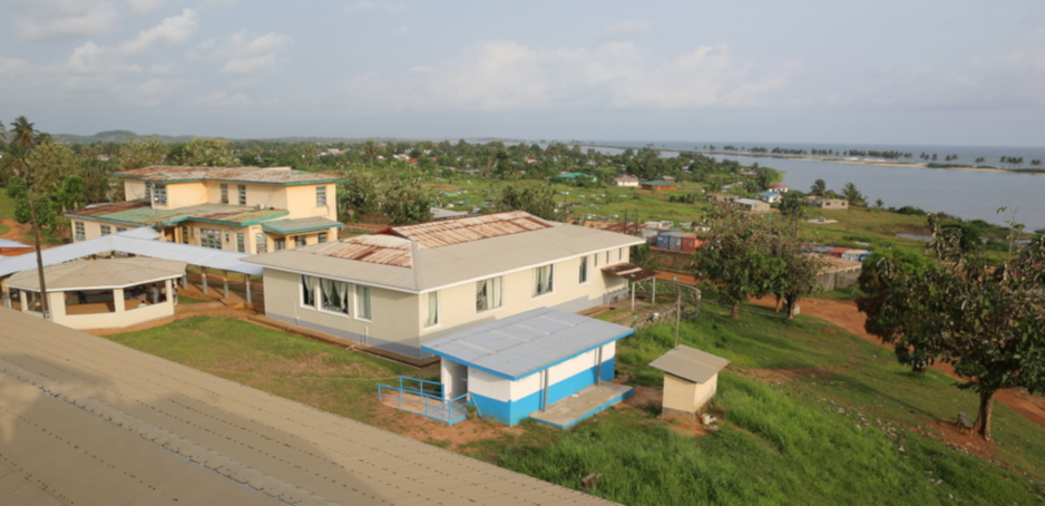 View of J.J. Dossen Hospital