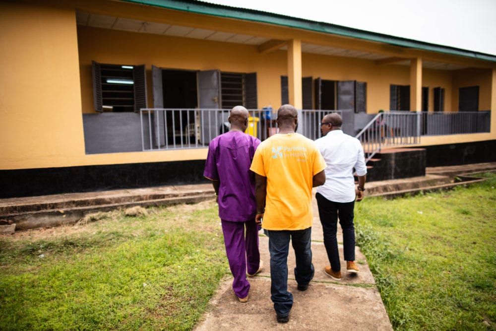 Dr. Abdul Jalloh leads a tour of the Sierra Leone Psychiatric Hospital