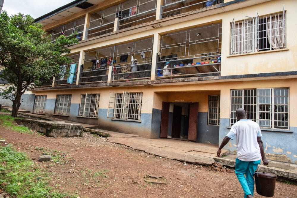 Staff continue work on repairs and upgrades at Sierra Leone Psychiatric Hospital