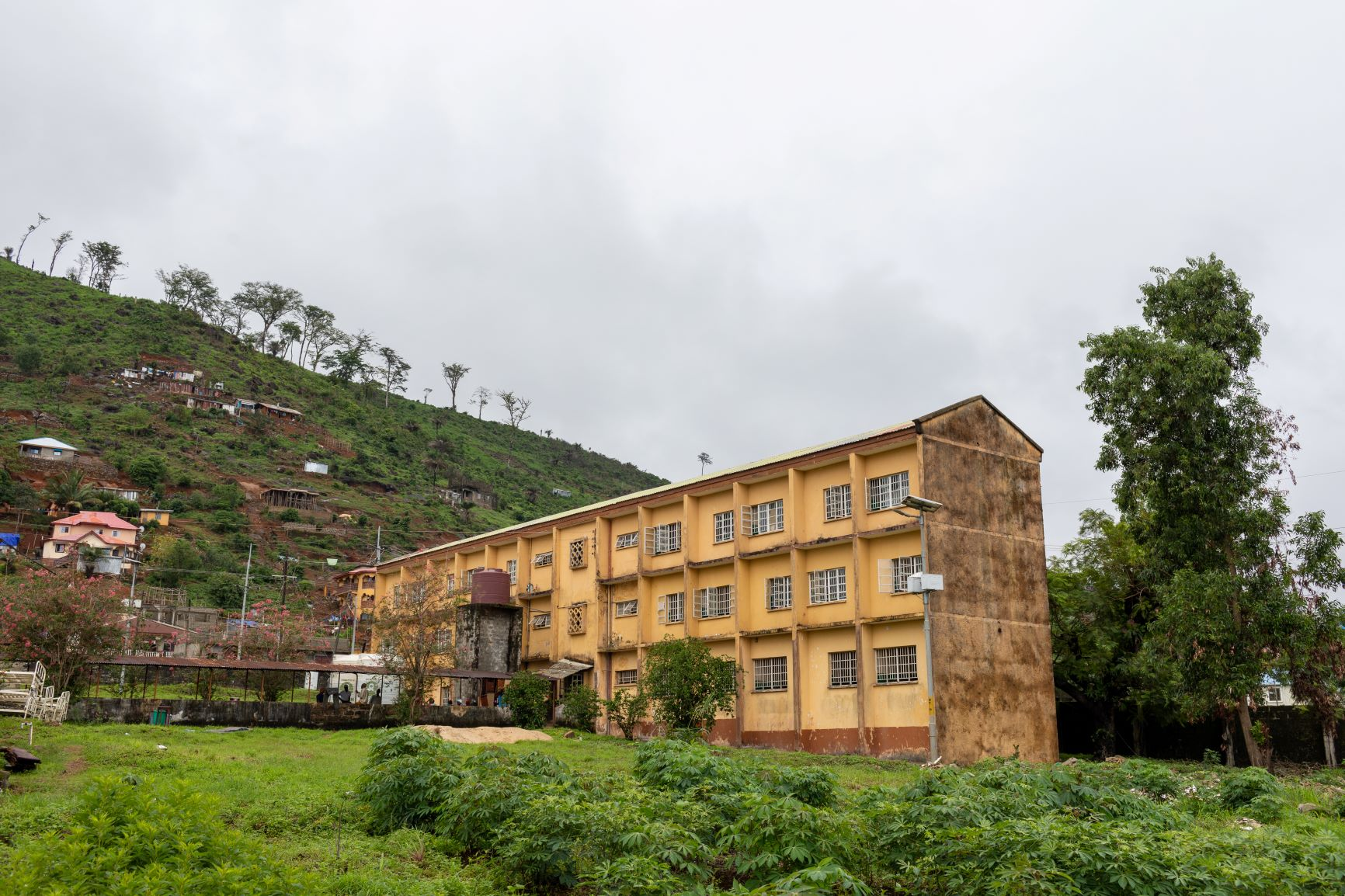Outdoor shot of Lakka Hospital and surrounding area