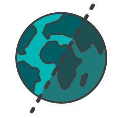 Half world graphic