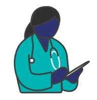 Womens health, graphic of a female doctor