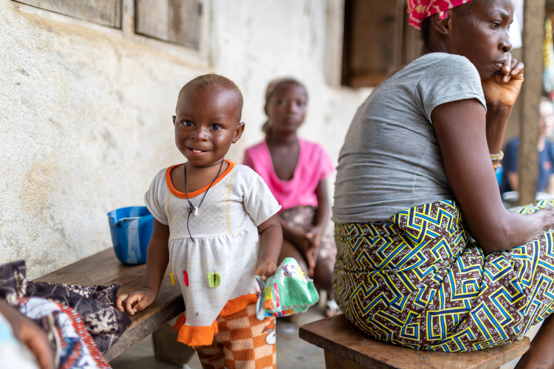 A young child at a MAM event in Kono, Sierra Leone