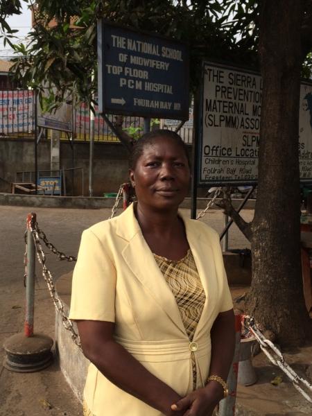 Sister Elizabeth Koroma at the Princess Christian Maternity Hospital