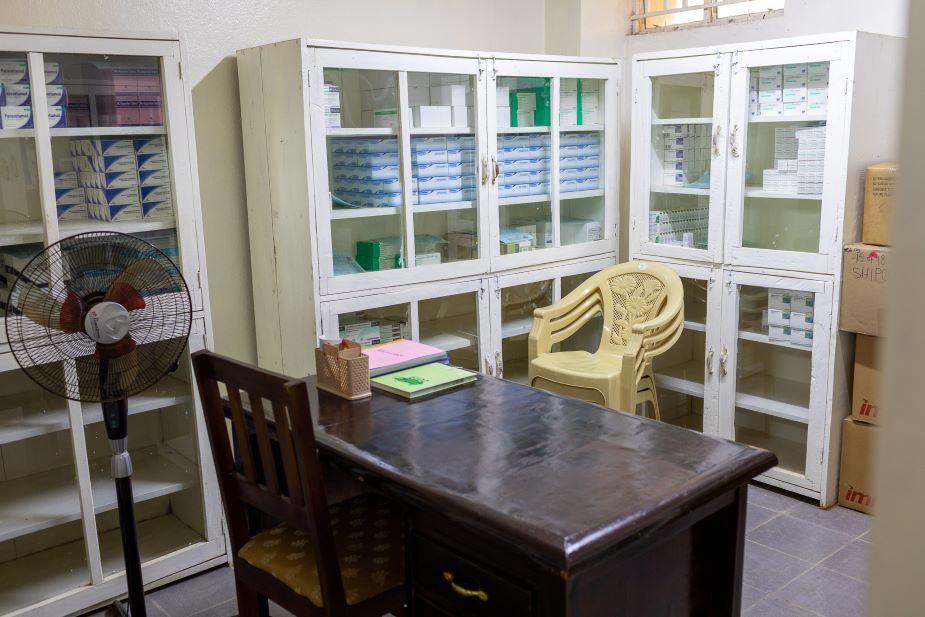 The pharmacy at the Sierra Leone Psychiatric Teaching Hospital