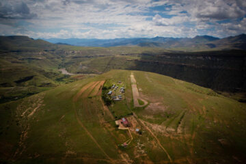 A UN award Thursday recognized PIH's community-based COVID-19 response program in Lesotho, particularly through remote facilities including Lebakeng Health Center, shown here.