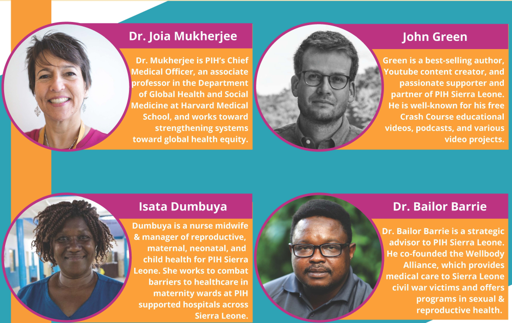 Bios of moderator and panelists from the webinar on the Maternal Center of Excellence
