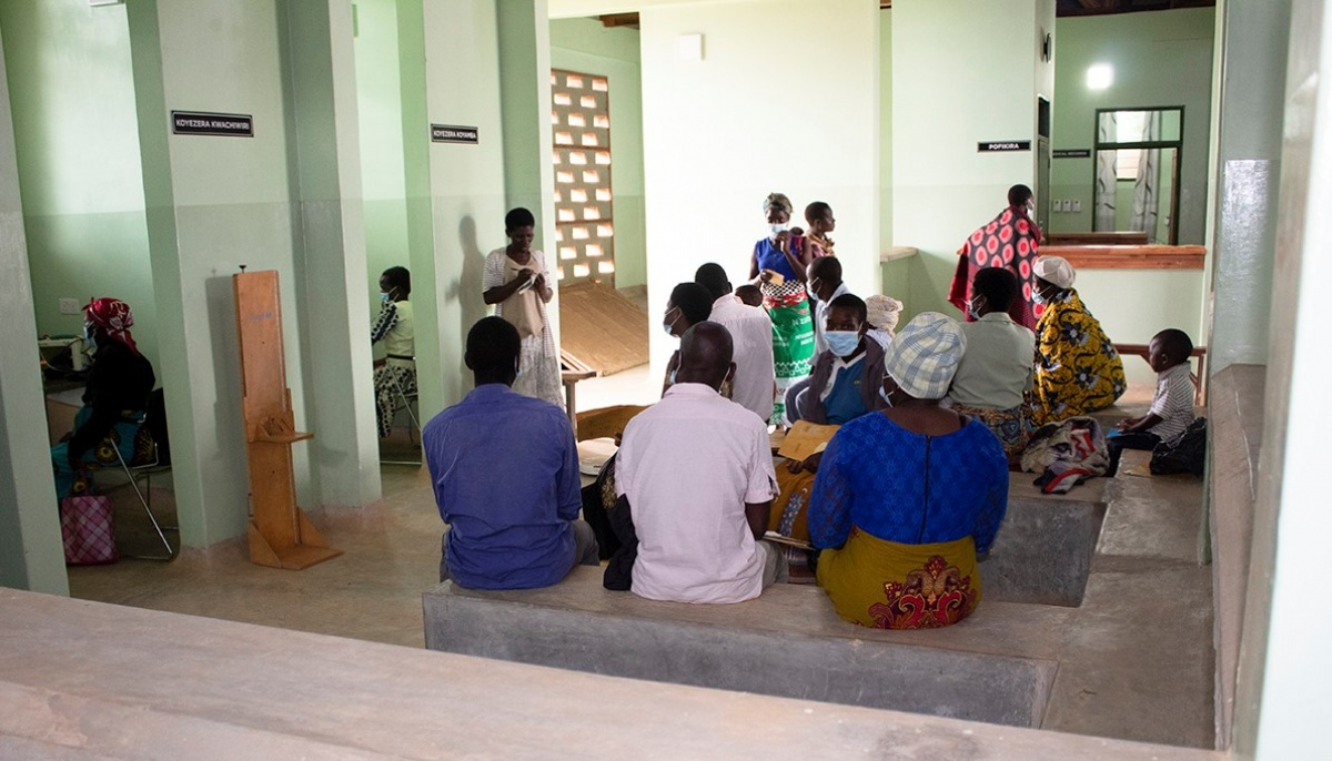 Patients sit in a waiting area for a new integrate care clinic